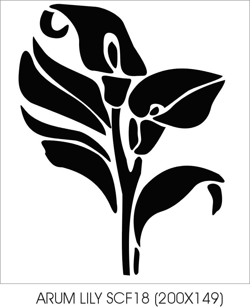 Arum Lily The Stencil Company